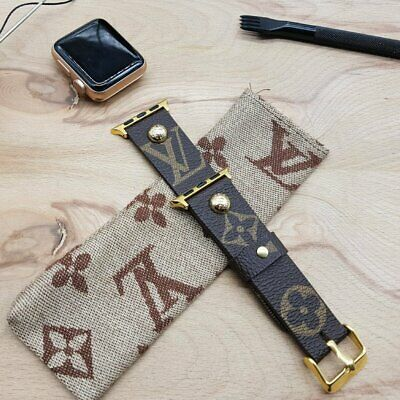Handmade Louis Vuitton Apple Watch Band 42mm, Apple Watch Band 38mm