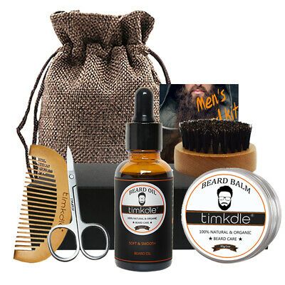 Beard Grooming Kit for Men 100% Natural Plan Beard Grooming Trimming Travel Kit