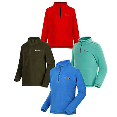 Regatta Kids Lightweight Fleece Jacket Winter Sweater Camping Jumper Top Hotshot