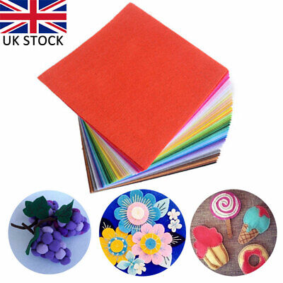 40Pcs Square Fabric 1mm Thickness Polyester Felt Sheets Dobby  Home Party Decor