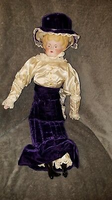 """Antique China Head Doll 20"""" Blonde."""