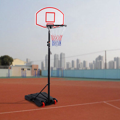 Adjustable Basketball Hoop System Stand Portable Basketball Set Stand w/ Wheels