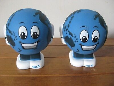 Money Box Piggy Bank x 2 (ANZ World Bank) Australia - Excellent Condition