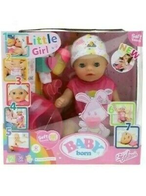 Baby Born Doll Little Girl Soft Touch Zapf Creations Age 2+  kids Christmas gift