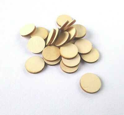 Round Counters Wooden Tokens Upgrade for Board Games RPG & Tabletop Currency