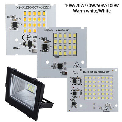 30W 50W 100W Floodlight High Power Smart IC LED Chip Beads  Driver Lamp SMD2835