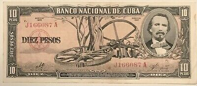 🇨🇺 Caribbean 1960, 10 Pesos Banknote With Very Important Signature.