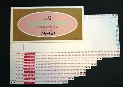 Pc403 Brother Knitting Machine Punch Cards Patterns Volume 12 441-450 Lace X10