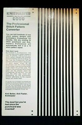 Silver Reed Knitting Machine Sk155 Punch Card 24 To 12 Stitch Converter Card X1
