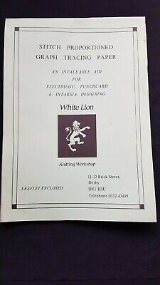 Pc361 Brother Knitting Machine Rare Lion Stitch Proportion Mylar Tracing Sheets