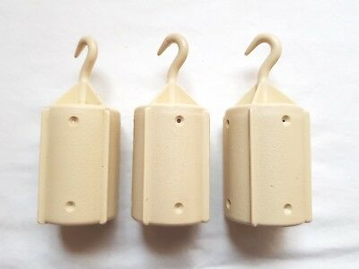 Brother Knitting Machines Parts Ribber Set Of Three Large Hook Hanging Weights