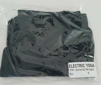 Electric Yoga Seamless High Rise Leggings, black size 1X NWOT, runs small, in pk