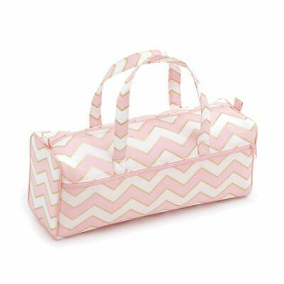 HobbyGift Knitting/Craft Bag - Pink Pearlised Blush Design Storage