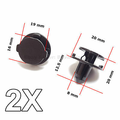 2X Bumper Air Duct, Bumper Shield Protector clips for Nissan