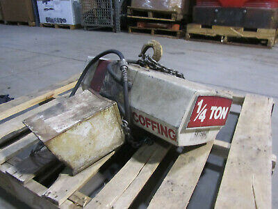 1/4 Ton Coffing Electric Chain Hoist,  Used