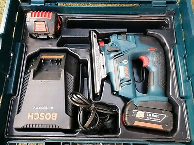 Bosch GST 18 V-Li Cordless Jigsaw 18v 3.0Ah batteries charger metal wood work