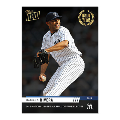 2019 Topps NOW Moment of the Year MOY-16 Mariano Rivera New York Yankees