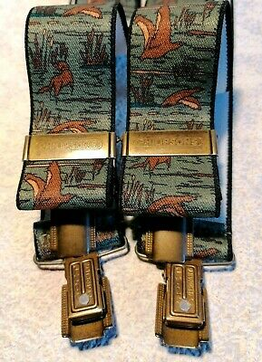 VTG Philipsons of Germany Men's Wildfowl Country Scene Green Elasticated Braces