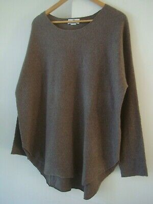 "Gorgeous Oversized PETER HAHN 100% Cashmere Jumper Size 14/16 (46"" ) RRP £229.00"