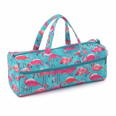 HobbyGift Knitting/Craft Bag - Pink Flamingo Design Storage
