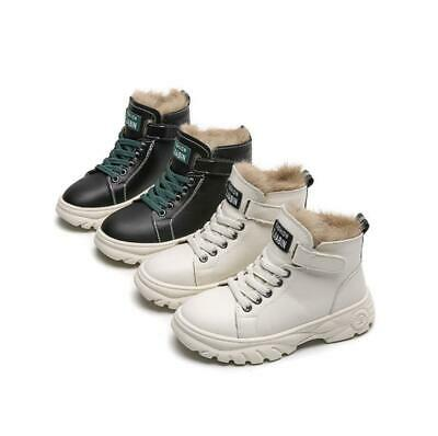 Kids Boys Girls Winter Warm Fur Lined Chelsea Snow Ankle Boots Trainers Shoes