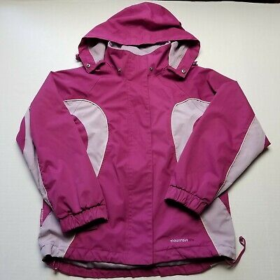 Mountain Life Kids Girls Jacket sz 13-14 Pink Zipper Front Hood F94