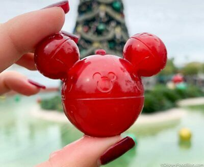Disney Parks World Resorts Disneyland Red Glow Cube Light Up Christmas Mickey