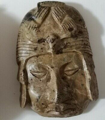 PRE-COLUMBIAN MAYAN/OLMEC GREEN JADE Masks/breast plate 2