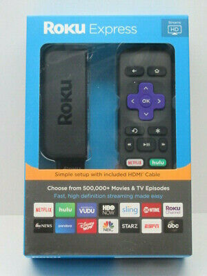 Roku Express Easy High Definition (HD) Streaming Media Player 3900RW