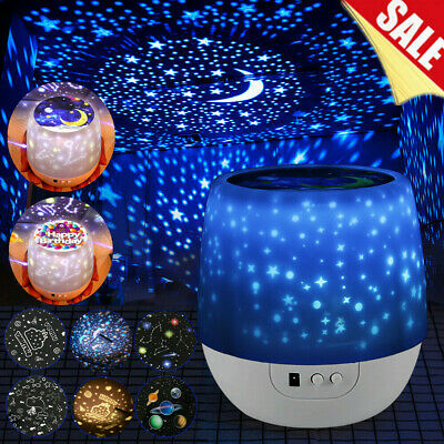 LED Projector Light Star Sky USB Lamp Starry Room Night Decor Chrismas Kids Gift