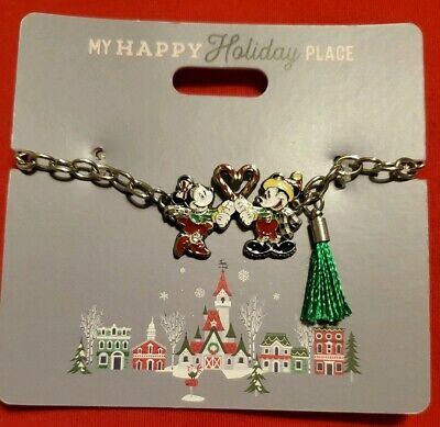 Disney Parks 2019 My Happy Holiday Place Bracelet Christmas Mickey Minnie