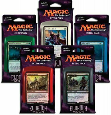 Eldritch Moon Intro Pack Set of Five (ENGLISH) FACTORY SEALED NEW MAGIC ABUGames
