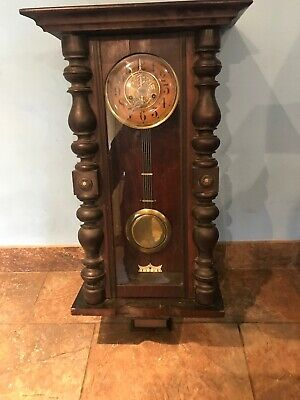 Old Vintage Wall Pendulum Wooden Art Collectible Wall Clock