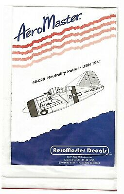 This listing is for two sets of decals by AERO MASTER 1/48TH scale