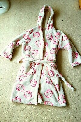 Girls Hello Kitty Dressing Gown Aged 7-8 Years