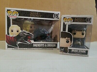 Funko Pop Rides Game Of Thrones Daenerys & Drogon #15 Bran Stark #67 NIB