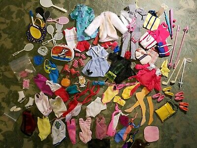 BIG LOT 80+ pcs.  OF BARBIE and Family  Misc. CLOTHES