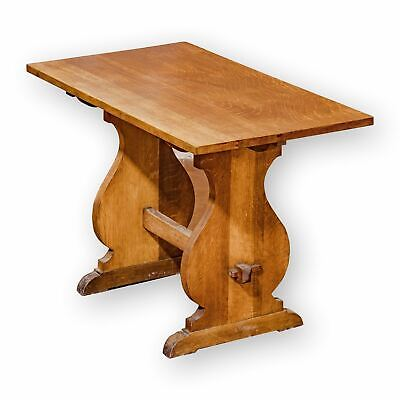 Heal and Co (Ambrose Heal) Arts & Crafts Cotswold School English OakTable on Tre