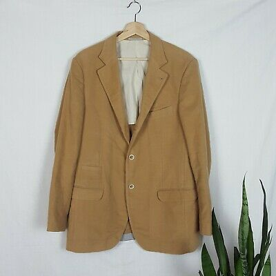 Brunello Cucinelli Men's Blazer Pure Cotton Sports Jacket Beige