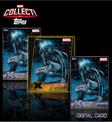 2019 X-MEN W13 GOLD DIE-CUT + 2x SILVER STORM Topps Marvel Collect Digital