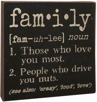 Definition of Family Wood Sign