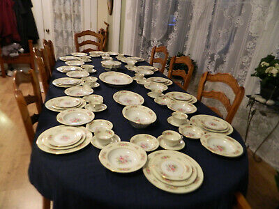 Noritake China Empire Dinnerware Set for 12 with 6 Serving Pieces           14-3