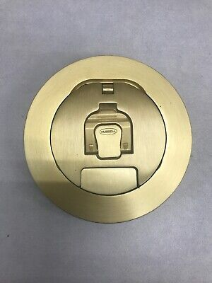 Hubbell Round Floor Box Brass Cover Hubwcfbs1R4Cvrbrs