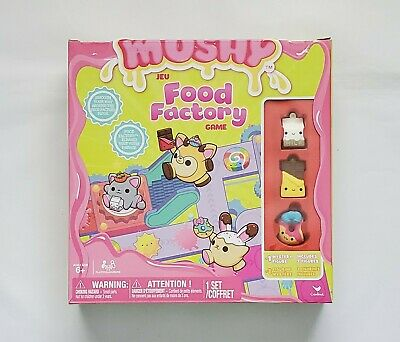 Smooshy Mushy Food Factory Board Game w/ 4 Squishy Figures, Never Been Opened!