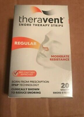 Theravent Snore Therapy 20 Strips  REGULAR* Exp  06/2020**