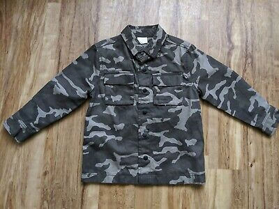 Boys Florence & Fred Sturdy Cream & Brown Camouflage Shirt Age 3-4 New