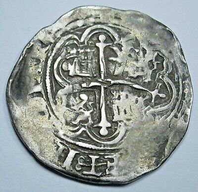 1500's Spanish Silver 1 Reales Double Struck Real Old Colonial Pirate Cob Coin