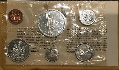 1965 Canada 🇨🇦 6 Silver Coins Proof-Like Set, Mint Sealed, Envelope & Coa.