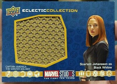 2019 UD Marvel First Ten Years (SP) Black Widow #EC-45 Eclectic Collection Relic