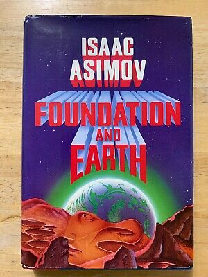 FOUNDATION AND EARTH by Isaac Asimov/HCDJ/Lilterature/Science Fiction